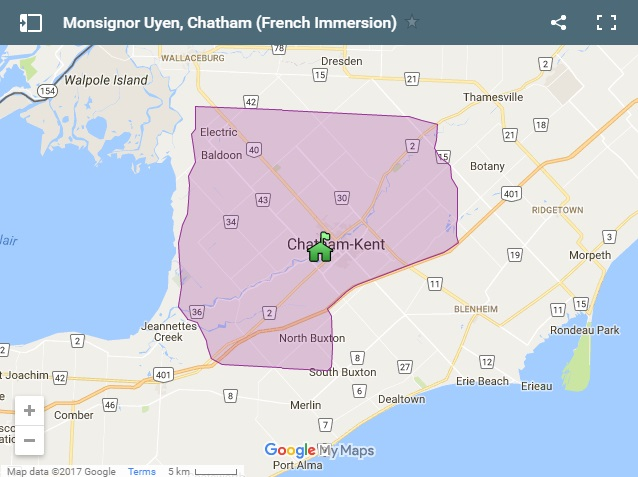 Monsignor Uyen French Immersion Boundary