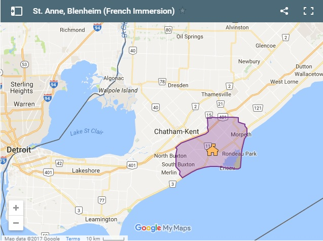 St. Anne Blenheim French Immersion Boundary