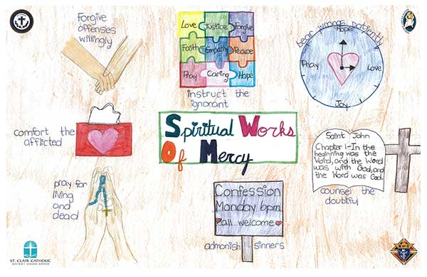 Spiritual Works of Mercy Poster
