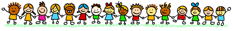 Illustration of children holding hands in a long line